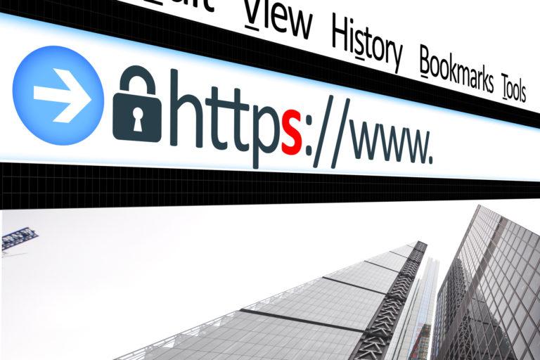 当WEBサイトはssl「https」で管理されています